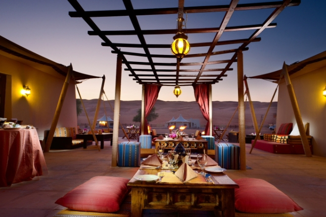 Dining in Luxury Desert Nights Camp_Anurag Mallick_Priya Ganapathy