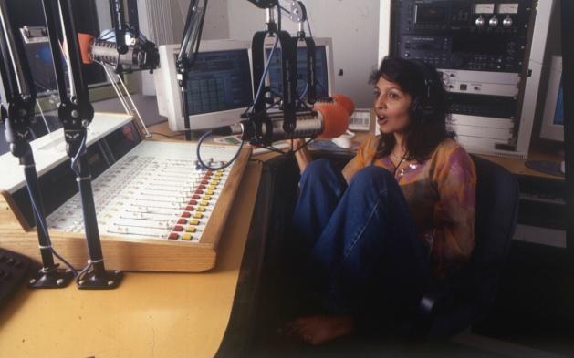 Priya Ganapathy aka Lingo Leela in Radio City studio