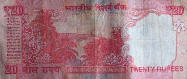 Andamans North Bay view on Indian 20 Rupee note_Anurag Mallick