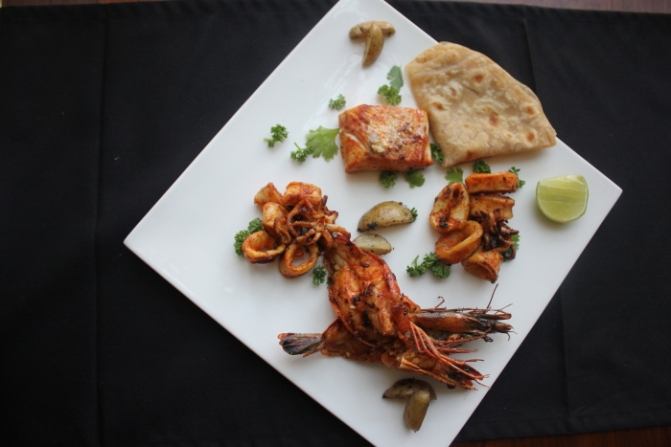 IMG_9340 East Indies_Cheenavala, a trio of fish, calamari and tiger prawn_Anurag Mallick
