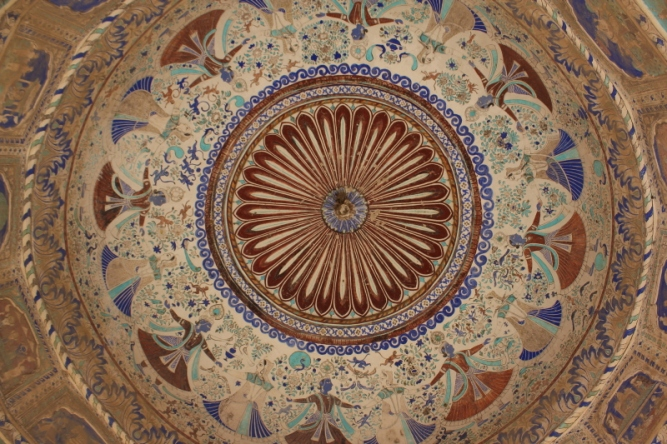 Ramgarh frescos - even undersides of domed chhatris serve as a canvas IMG_0630_Anurag Priya