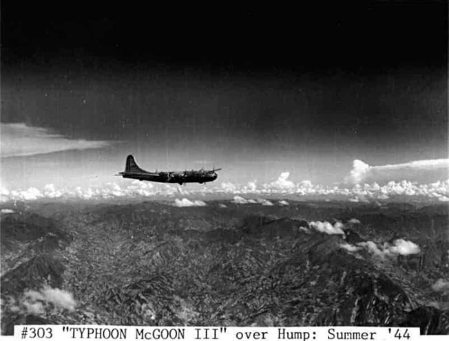 Typhoon McGoon III over Hump
