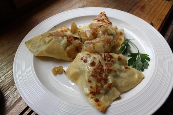 Schwabian cuisine-Maultaschen at Restaurant Ente Blaubeuren IMG_0712_Anurag Mallick