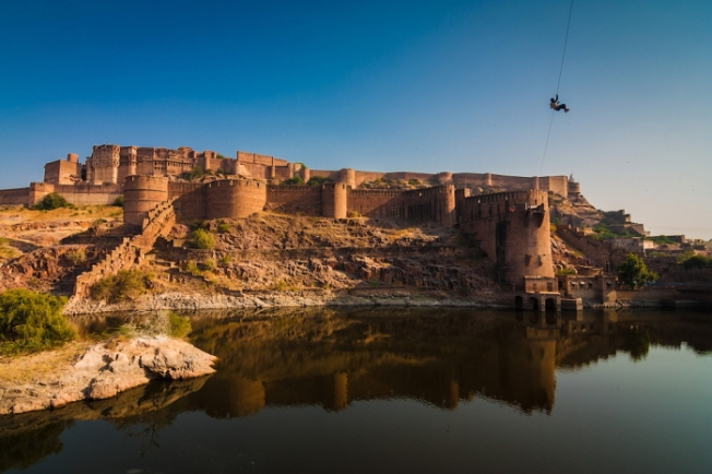 Superb Jodhpur Zip Tour Photo Jan 2013_Flying Fox