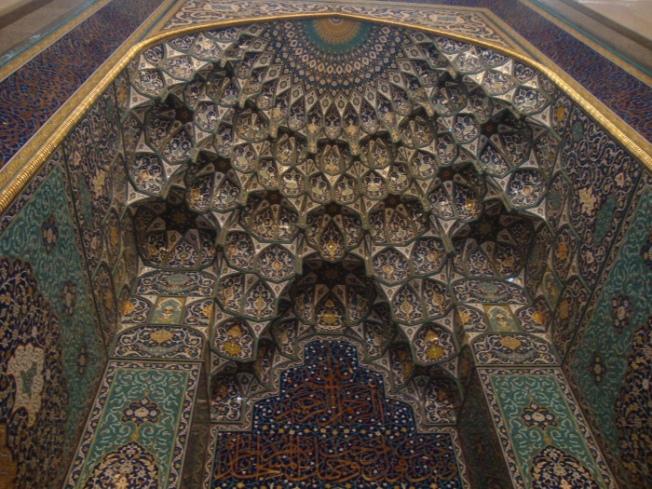 Sultan Qaboos mosque niche Muscat Oman DSC00972