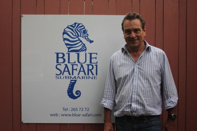 Blue Safari Subscooter inventor Luc Billard IMG_1703