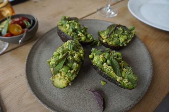 DSC03232-Grilled avacados at Gemyse, Nimb's latest gourmet restaurant focusing on vegetarian cuisine