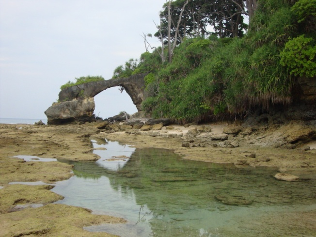 Andamans-Natural Rock bridge Laxmanpur DSC07251