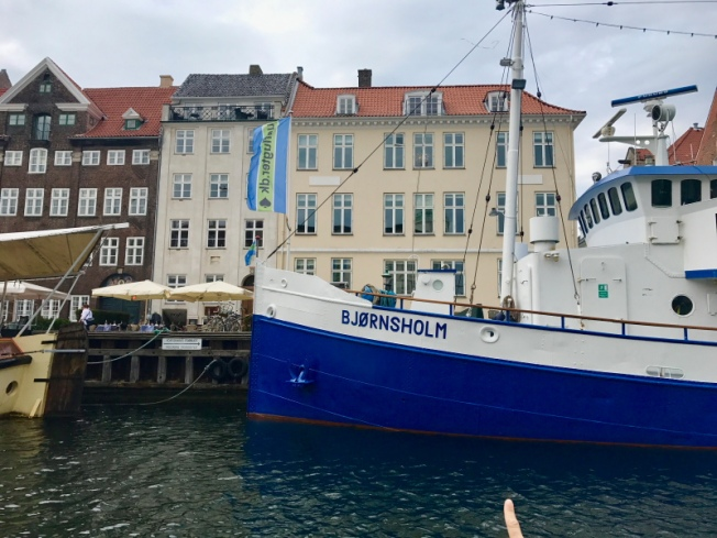 HC Andersen's house No 67 at Nyhavn is sandwiched between the cream and brown buildings_Priya Ganapathy