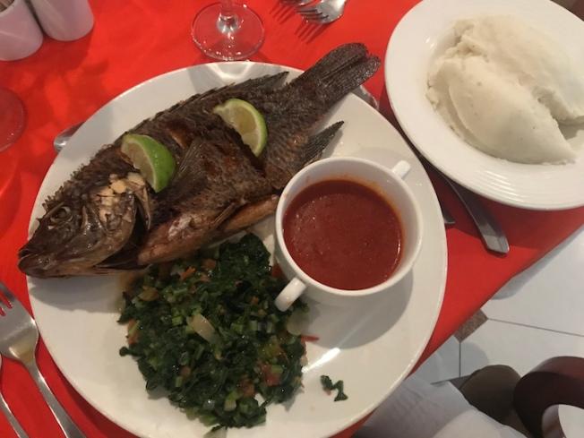 Lusaka-Nshima with fried fish IMG_2887