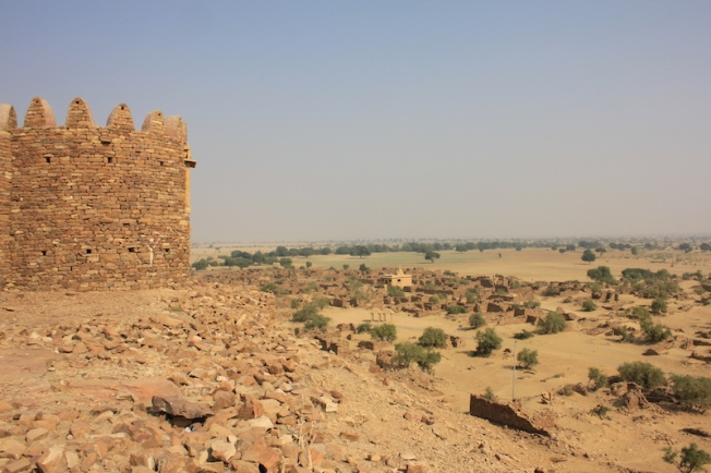 View of Kuldhara from Khaba Fort IMG_8996